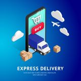 Express Delivery isometric design stock illustration