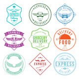Express Delivery Label and Badges Design elements Vector Stock Photography