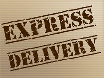 Express Delivery Means High Speed And Action Royalty Free Stock Photo