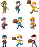 Express delivery people Stock Image