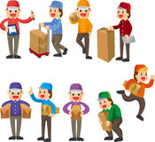 Express delivery people Royalty Free Stock Photos