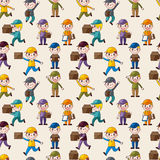 Express delivery people seamless pattern Stock Photos