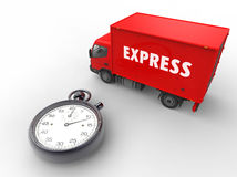 Express delivery Red Stock Photography