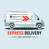 EXPRESS Delivery service logo template. Delivery company logo. Fast car. Stock Images