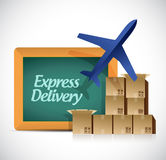 Express delivery shipping concept illustration Stock Photo