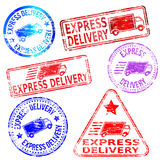 Express Delivery Stamps Stock Photo