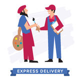 Express Delivery Symbols, Vector icon. Royalty Free Stock Images