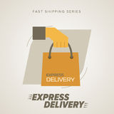 Express Delivery Symbols. Vector illustration. Royalty Free Stock Image