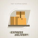 Express Delivery Symbols. Vector illustration. Stock Image
