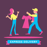 Express Delivery Symbols. Vector illustration. Stock Photography