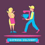 Express Delivery Symbols. Vector illustration. Stock Images