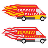 Express Delivery Symbols. Vector illustration Royalty Free Stock Photography