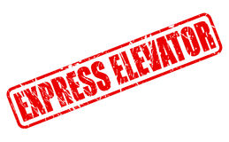 EXPRESS ELEVATOR SALE red stamp text Stock Photography