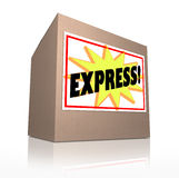 Express Fast Special Delivery Rush Shipment Cardboard Box Royalty Free Stock Image