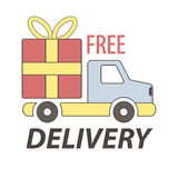 Express free delivery service logo concept vector sign Stock Photo