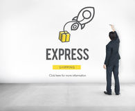 Express Logistic Cargo Freight Manufacturing Concept Royalty Free Stock Images