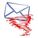 Express mail message Royalty Free Stock Image