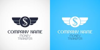 Express money transfer vector logo, icon, symbol. Design element for web money transfers Stock Photography