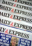 Daily Express Newspaper Royalty Free Stock Photo