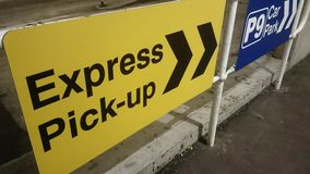 Express Pick-up Sign @ Sydney Airport Royalty Free Stock Photos
