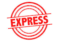 EXPRESS Rubber Stamp Stock Photos