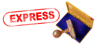 EXPRESS Rubber Stamp Royalty Free Stock Images