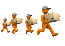 Express Shipment Competition Royalty Free Stock Photos