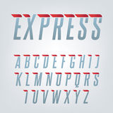 Express speed english alphabet. Stock Photography