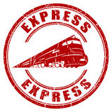 Express stamp. Express postal stamp isolated on white Stock Image
