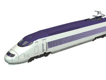 Express Train. Computer image, 3D express train,isolated white background Stock Images