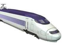 Express Train. Computer image, 3D express train,isolated white background Stock Photo