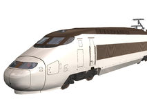 Express Train. Computer image, 3D express train,isolated white background Royalty Free Stock Photos