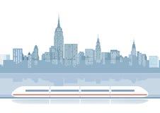 Express train illustration Royalty Free Stock Image