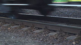 Express train passing by at high speed stock video
