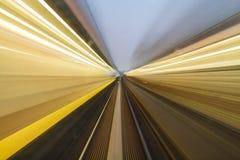 City Lights Motion Blur Stock Image