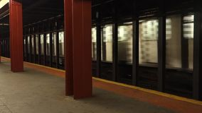 New York City Subway Train stock video footage