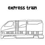 Express train of vector illustration Stock Photos