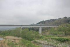 express train view of  Sapporo and Asahikawa Royalty Free Stock Image