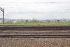 express train view of  Sapporo and Asahikawa Royalty Free Stock Photo