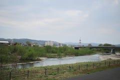express train view of  Sapporo and Asahikawa Stock Photography