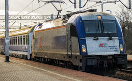 Express train Warsaw-Berlin Stock Image