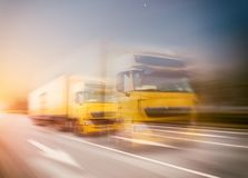 Express truck transport Stock Image