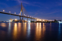 Express way bridge with street light Royalty Free Stock Images