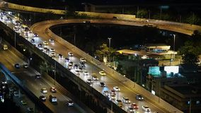 Express way in evening stock video