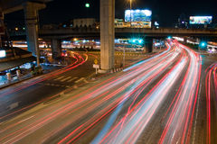 Express way in the night Stock Photo