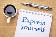 Express yourself inspiraitonal writing stock images