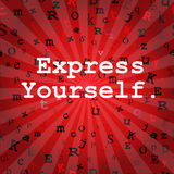 Express Yourself in Red Royalty Free Stock Photo