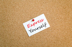 Express yourself sticky note concept Stock Photos
