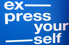 Express yourself text Stock Images