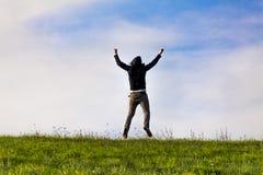 Expressando a alegria fora Imagem de Stock